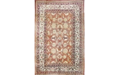 A LARGE AGRA CARPET, NORTH INDIA