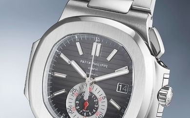 Patek Philippe, Ref. 5980/1A A rare and attractive stainless steel chronograph wristwatch with date and bracelet