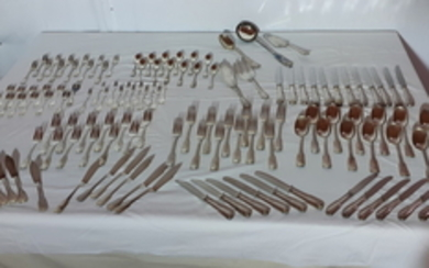 149 PC. FRENCH HEAVY SILVER PLATE FLATWARE SERVICE