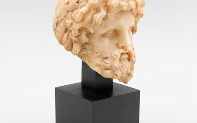 Roman Carved Marble Bust of Asklepius