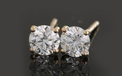 Earrings with brilliant cut diamonds 1.15ct