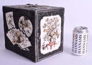 A VERY RARE LARGE 19TH CENTURY JAPANESE SILVER