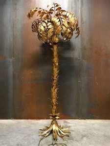 Lot Art Hans Kogl Palm Tree Floor Lamp Brass Gold Plated