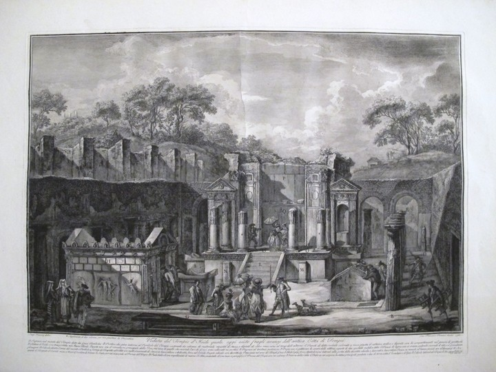 Piranesi, Francesco: View of the Temple of Isis in the City of Pompeii, Year 1788/89
