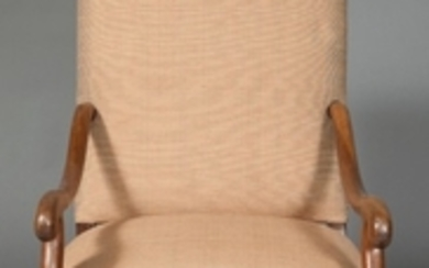 Pair of Louis XIV Style Walnut Armchairs
