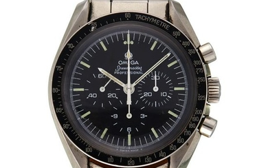A stainless steel chronograph bracelet wristwatch,