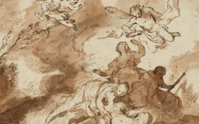French School, early 18th century, Dido's Death