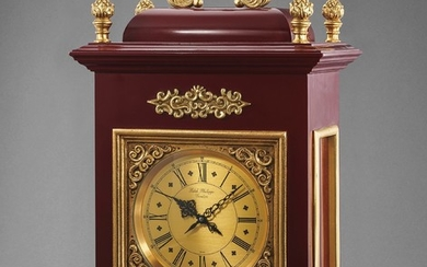 Patek Philippe, Ref. 1360 An interesting and unsusual wood and gilt metal quartz table clock