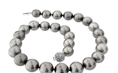 11.5-14.0mm Tahitian Gray Pearl Necklace