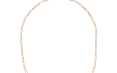 Art Deco Natural Pearl Necklace, Tiffany & Co.