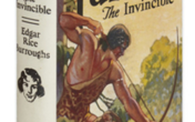BURROUGHS, EDGAR RICE. Tarzan the Invincible. Frontispiece....