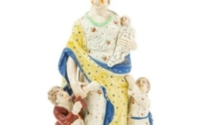A Staffordshire Pottery Figure of Charity Heig
