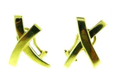 TIFFANY & CO. PALOMA PICASSO 18k Yellow Gold X Earrings