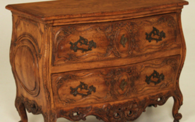 LOUIS XV STYLE FRUITWOOD COMMODE