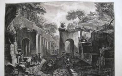 Piranesi, Francesco: View of the Gate of the City of Pompeii, Year 1788/89