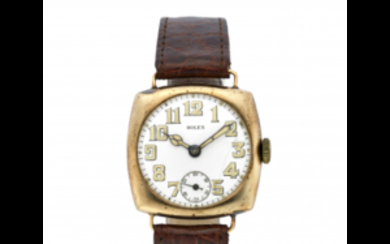ROLEX Gent's 9K gold wristwatch 1920s Dial, movement and...