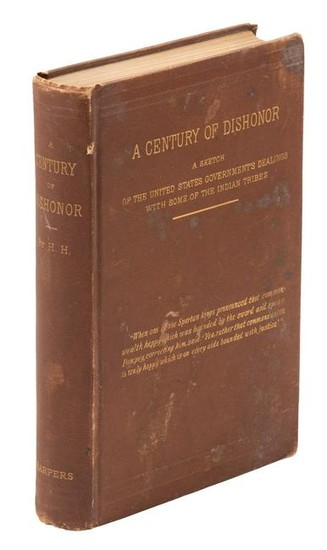 A Century of Dishonor, 1st Ed. Inscribed