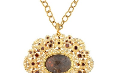 Gold reliquary pendant, probably late 17th Century - early 18th Century.