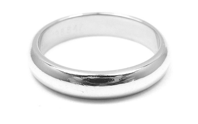 Authentic! Cartier Platinum Wedding 3 MM Band Ring Size
