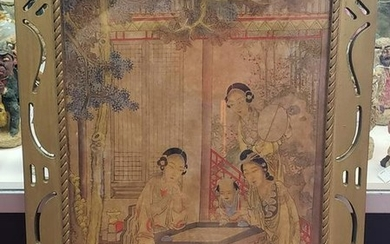 Circa Early 19th Century Chinese Women Playing Weiqi