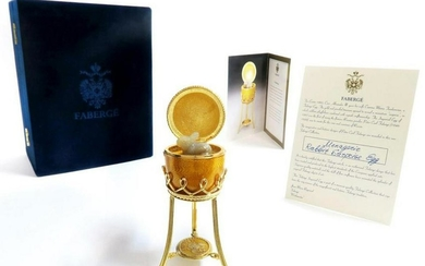 Faberge Menagerie Collection Yellow Surprise Egg Rabbit