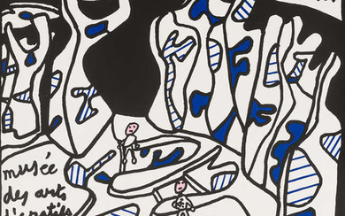 Jean Dubuffet (1901-1985) (after) Two exhibition posters, 1974/1977