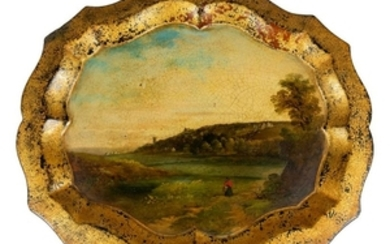 Oil painting on Papier Mache Tray