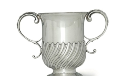 A silver goblet, FC, London 1757