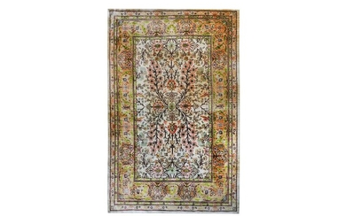 A VERYS FINE SILK HEREKE RUG, TURKEY