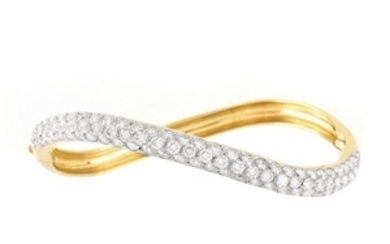 Vintage Van Cleef & Arpels Diamond and 18K Bangle