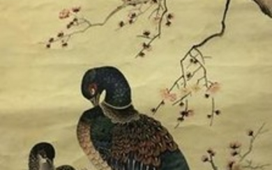 Chinese Water-Color Painting Birds