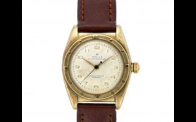 ROLEX OYSTER OVETTO Gent's 9K gold wristwatch 1940s Dial,...