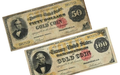 Two U.S. Gold Certificates