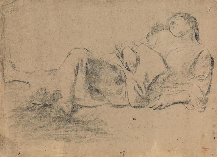 ITALIAN SCHOOL, 17TH CENTURY A Reclining Youth.