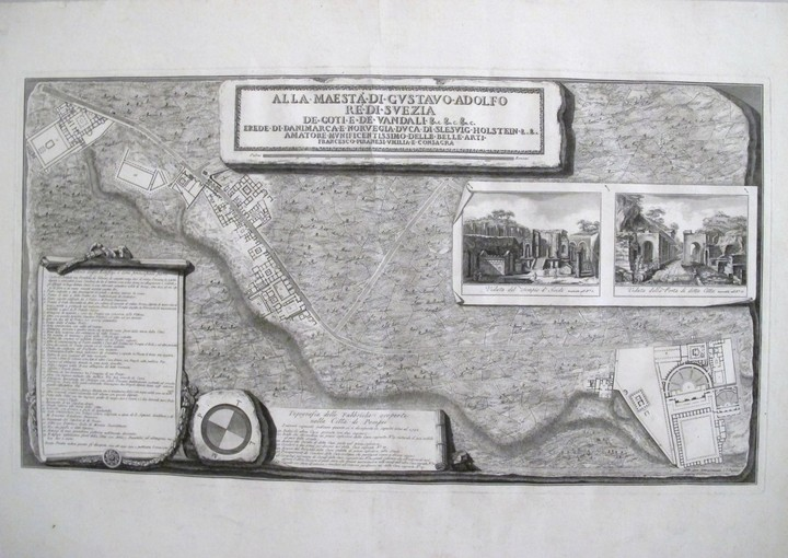 Piranesi, Francesco: Topography of the Excavations of the City of Pompeii, Year 1785