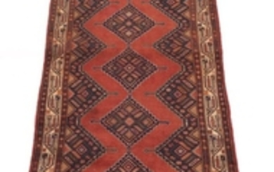 Semi-Antique Hand-Knotted Malayer Runner
