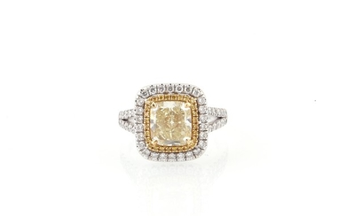 Diamantring zus. ca. 3,40 ct