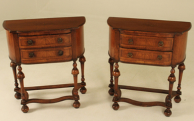 PR. OF WILLIAM AND MARY STYLE WALNUT LOWBOYS