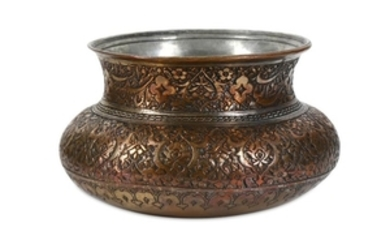 A TIMURID-STYLE TINNED COPPER BOWL Iran, late 16th -
