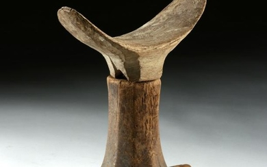 Egyptian Late Dynastic Wood Head Rest (for Mummy)