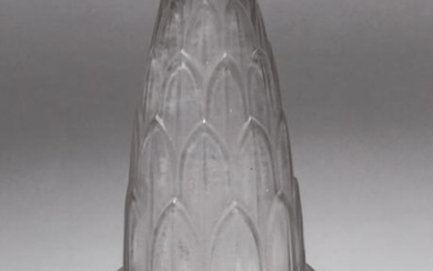 Lalique Style French Frosted Art Glass Vase