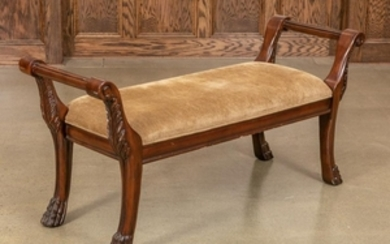 Mahogany Claw Foot Window Bench