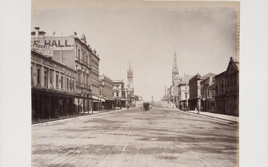 SPRING ST. E RUSSELL ST., MELBOURNE 1880 CIRCA