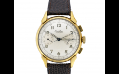BREITLING, Chronograph Gent's wristwatch 1950s Dial and movement signed...
