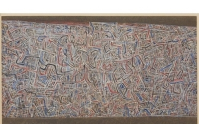 """MARK TOBEY (american, 1890-1976) """"THE WOVEN WORLD"""" 1974, pencil..."""