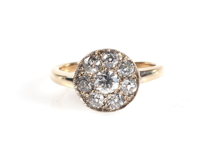 Brillant Diamant Damenring zus. ca. 0,95 ct