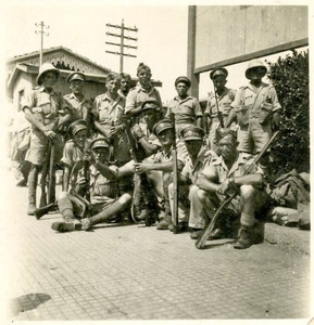 Collection of photographs of soldiers in the Jewish Brigade, Europe, Egypt. The 1940s