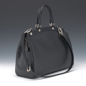 "Louis Vuitton Black Epi Leather Hand Bag ""Brea"" MM"