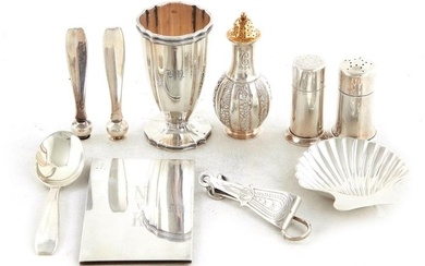 American silver table and personal items, Tiffany & Co (10pcs)