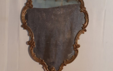 LOUIS XV DESIGN HANGING CONSOLE AND MIRROR